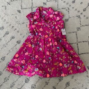 New Arizona Magenta Ruffle Fall Dress Size 4
